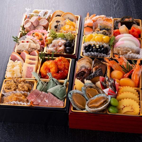 ホテル グランヴィア大阪 監修 和洋中 おせち料理 2021 与段重 40品 盛り付け済み 冷蔵おせち 約3人前 お届け日:12月31日